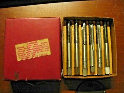 """Six D.T.C. 1/4"""" - 20+.005 HS USA in Box Old Machinist Tool Taps Thread"""
