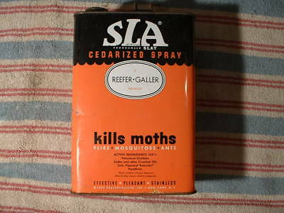 Vintage SLA Cedarized Moth Spray Can 1950 Reefer Galler Product