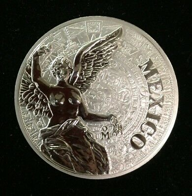 2016 Aztec Calendar Winged Victory Mexican Monuments 1 oz Silver Proof (SC)
