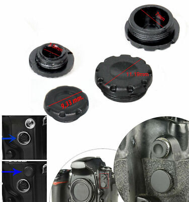 PROTECTIONS CAPS Flash pc Sync Terminal Cap & 10-pin Remote Cover for Nikon Fuji