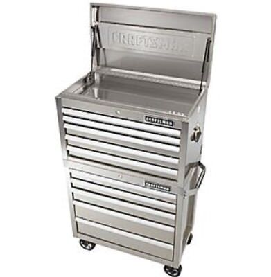 craftsman 32 in stainless steel 5 drawer tool chest & 5 drawer ...