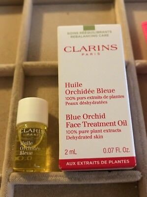 Clarins  Blue Orchid Face Treatment 0.07-ounce Oil for Dehydrated Skin Bioelements Sleepwear for Eyes, 0.5-Ounce