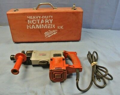 Milwaukee 5347 1-1/2 Rotary Hammer In Red Metal Case ( 6014-1 Bz )