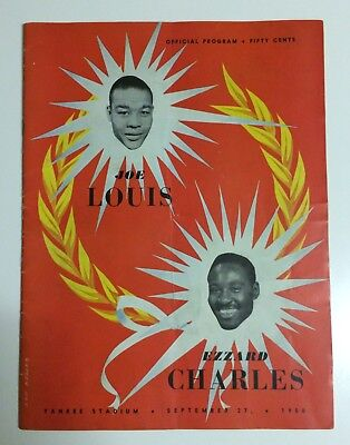 1950 Joe Louis v Ezzard Charles Official On-Site Boxing Programme Yankee Stadium