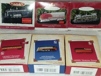 Hallmark Ornaments from Lionel Trains Series - Lot of 6