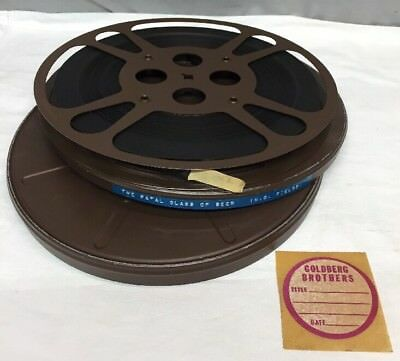WC Fields 8mm Movie Film Reel The Fatal Glass Of Beer In Canister