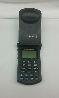 vintage motorola startac dual band cell phone NO CHARGER