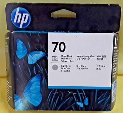 Genuine Hp 70 Photo Black/light Gray Printhead C9407A New In Factory Sealed Box