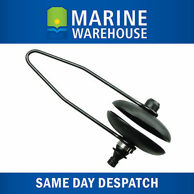 Outboard Motor Flusher Oval W/ Quick Connector Hose Fitting Black Rubber 202072