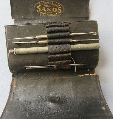 Antique 1800s Leather Sharp & Smith Medical Surgical Kit