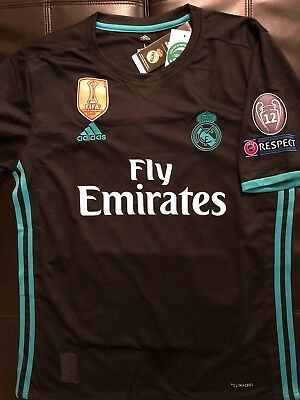 bf545d11 Ronaldo #7 Real Madrid Champions League Stitched Mens Black Jersey with  Patches
