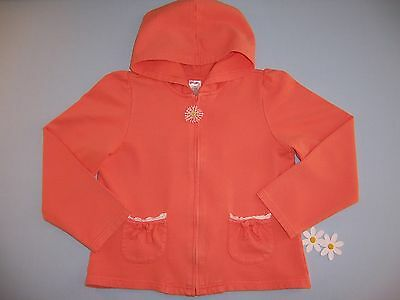 "Gymboree girls ""FRESHLY PICKED"" sz 9 HOODIE..ORANGE...EUC"