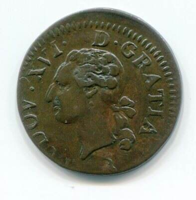 France Liard 1783 - Double Struck - Both Off Center
