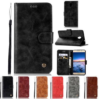 For Lenovo Vibe P1 PU Leather Flip Wallet Card Slots Stand Phone Case Cover