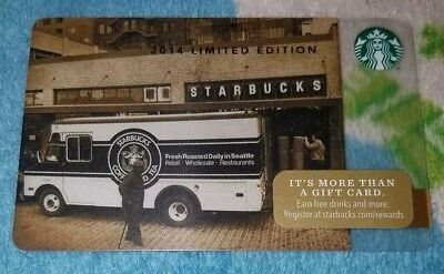 Starbucks 2014 Limited Edition Gift Card Unswiped