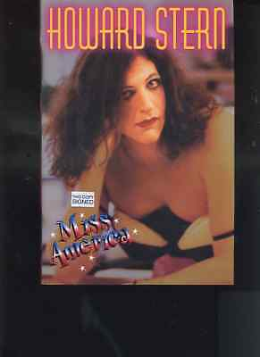 HOWARD STERN wdob   hand SIGNED- MISS AMERICA - 1st Edition hc book