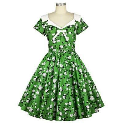 Chic Star Dixie Rose Dress Retro Prom 50s Vintage Pin Up Rockabilly Floral Print