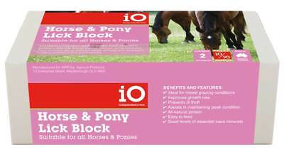 iO Horse & Pony Mineral Salt Lick Block, Equine Supplement 2 Kg