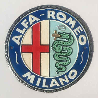 Alfa Romeo Milano Cast Iron Sign Plaque Motor Car Man Cave Bar Pub 24cm & 1.4kg
