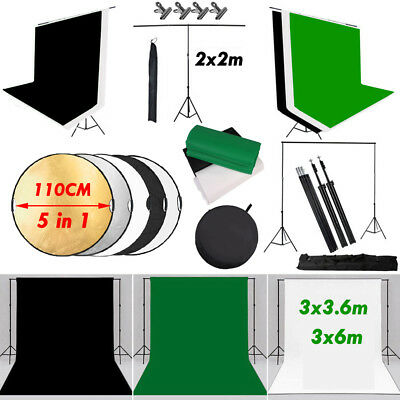 Photography Black White Green Screen Backdrop Lighting Studio Background Stand