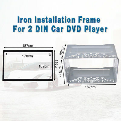 187mm 2Din Fascia DVD Frame Cage for VW Jetta Chico Golf Bora Polo MK3 MK4