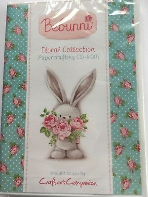 """Crafters Companion """"Bebunni"""" Floral Collection Papercrafting CD-Rom Neu/OVP"""