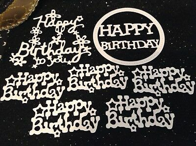 Die Cuts & Die Cut Stickers - Happy Birthday x7 - Cardmaking & Scrapbooking