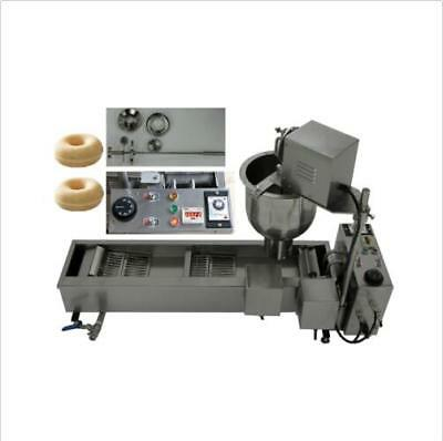 CE Commercial Automatic Donut Maker Making Machine, Wider Oil Tank, 3 Sets Mold