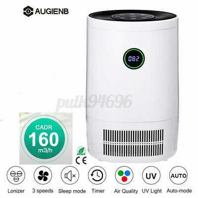 AUGIENB True HEPA Filter Touch Ionizer Air Purifier Ozone O3 Odor PM2.5 Remover