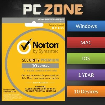 NORTON Internet Security 2019 - PC/Mac/iOS/Android - 1 Year - 10 Device Download