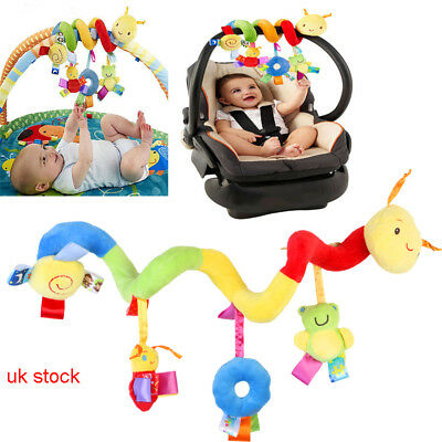 Kid Mobile Crib Music Toy Baby Crib Cot Pram Ringing Bed Bell Spiral Rattles UK