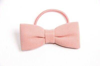 Gorgeous Cute Ladies Girly Elastic Blush Pink Hair Band w Simple Bow (S313)