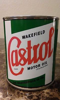 Vintage Castrol Oil Can 1 qt. -  ( Reproduction Tin Collectible )