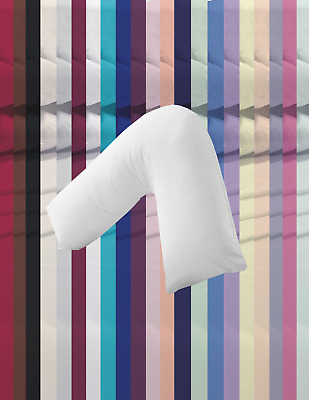 Pregnancy Pillow and Case Hollowfibre Back Neck Support V Shaped Orthopedic NHS