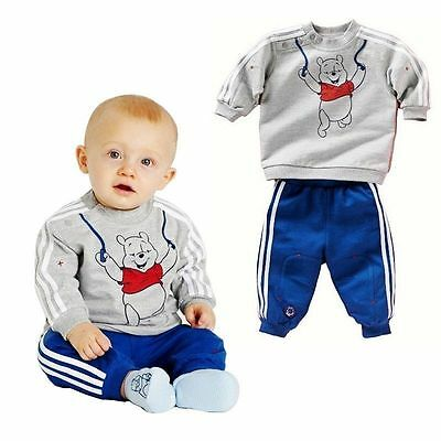 Boys Kids Toddler Baby Tracksuit Top Hoody Pants Trousers Set Clothing Winnie