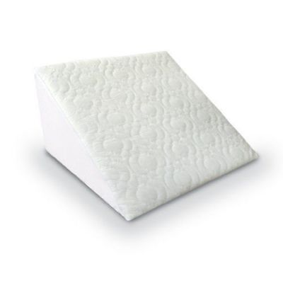 Orthopedic Bed Wedge Support Pillow Acid Reflux Foam with Quilted Cover Back Nec