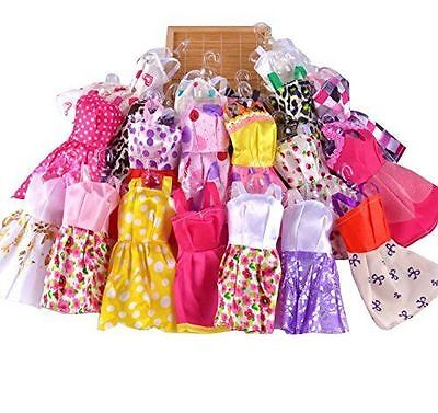10 pcs/Lot for Barbie Doll Toy Handmade Party Clothes Dresses outfit Xmas GIft