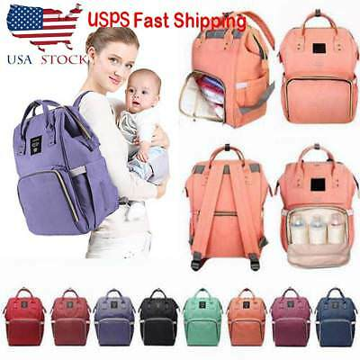 Lequeen Mummy Maternity Nappy Baby Diaper Bag Large Capacity Travel Backpack