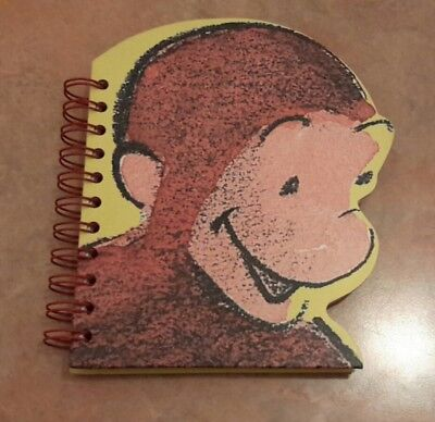 Curious George Notebook 1998 Head Shaped