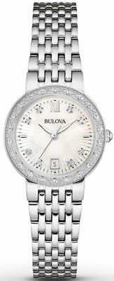 Bulova Women's Quartz Stainless Steel and Silver Plated Casual Watch 96R203
