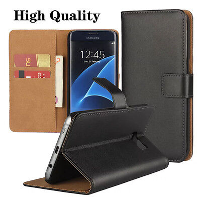 Real Genuine Leather Flip Wallet Slim Case Cover for Various Phones