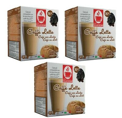50 Dolce Gusto Compatible Caffe Latte Cafe Au Lait Coffee Pod Capsules 50 Drinks