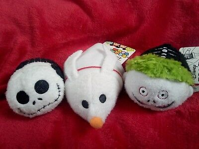 Disney Nightmare before Christmas Tsum Tsums x3 jack, Barrel and Zero 99p start