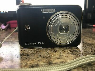 GE Active Series A1230 12.1MP Digital Camera with 2gb storage card