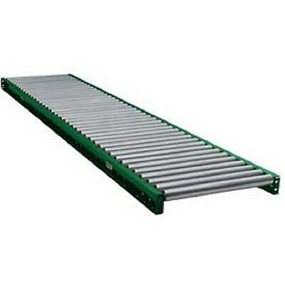 "NEW! 10' Straight Steel Roller Conveyor 1.9"" Rollers 3"" Axle Center-24 3/4W!!"
