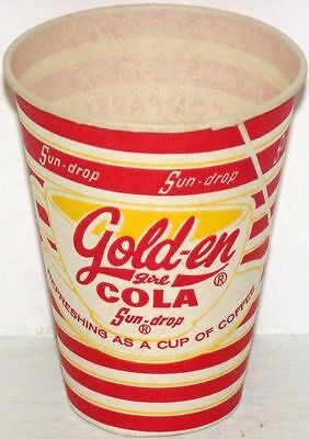 Vintage paper cup SUN DROP GOLDEN GIRL COLA 4oz size unused new old stock nrmt+