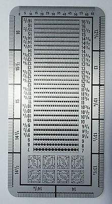 New Premium Metal Stamp Perforation Gauge 1/4 Units Czech Double Sided Watermark