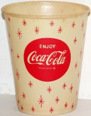 Vintage paper cups COCA COLA Lot of 3 different Free Sample new old stock n-mint