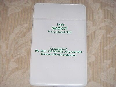 Smokey Bear & Pa. Dept. Of Forests & Waters Pocket Protector