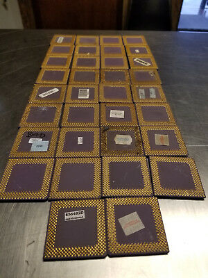 51 Ceramic Computer Processors, For Gold Recovery, AMD Gold Double Gold and Sun